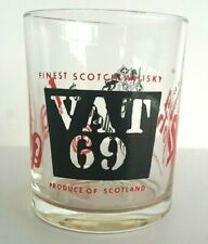 VAT 69 Haig Blended Scotch Whisky Spirit Glass Tumbler Rare Collectable