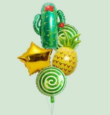 Folienballon Luftballon Ananas Ballons Frucht Sommer Party Kaktus Candy Bar Pool