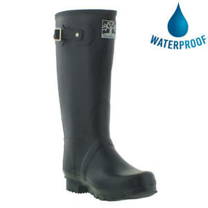 Woodland Wide Fit Wellies Mens Womens Ladies Blue Wellington Boots Size 4-12