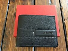 Genuine Ferrari Black Leather Wallet Extremely RARE Made in Italy NEW in BOX