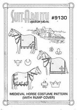 HORSE & WESTERN SUITABILITY SEWING PATTERN MEDIEVIL HORSE COSTUME - 9130
