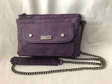 "Purple 6X8"" Roxy Purse Bag w 48 Handle & 4 Pockets"