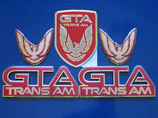 91-92 Pontiac Firebird Trans Am GTA 5pc Badge Set (9 colors)
