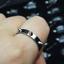 15pcs Wholesale Jewelry Lots 316L Stainless steel Rivet Cool Rings Free shipping