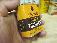 ANN PAGE TURMERIC TIN SPICE CAN COUNTRY STORE INC EMPTY JMJ vintage mid 1900's