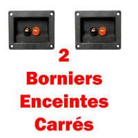 2 Borniers A VIS Rectangulaire pour Enceintes Connections à Souder