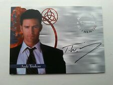 RARE CHARMED AUTOGRAPHED SIGNED TRADING CARD A4 T W KING AS ANDY TRUDEAU