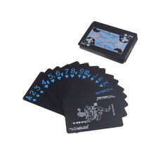 Black Plastic PVC Poker Waterproof Magic Playing Cards Table Game�€New
