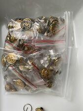 Vintage Military Police Gold Tone Metal  Button Uniform Lot 90+ Set