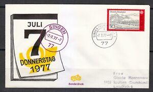Germany 1977 cover SST Sonderstempel SINGEN 7777 Donnerstag