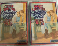 Vintage Great Original Country Hits Of The 80's 2 Cassette Tapes 2,3