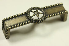Genial Star With Barbwire Pull Antique Brass Western Cabinet Hardware Drawer Pulls