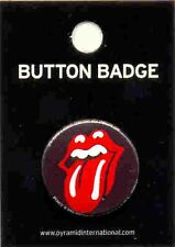 Rolling Stones Lips 25mm Button Badge Pin Official Carded