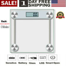 Digital Electronic LCD Glass Bathroom Body Weight Weighing Scales High Precision