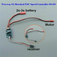 Two-way 5A Brushed ESC Speed Controller 2S-3S Spare Part for RC Car/Boat DIY Toy
