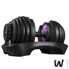 Adjustable Dumbbell Weight Set Selecttech 552 Fitness Workout Gym Purple