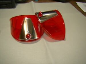 vintage style red transparent 7 inch head light visors headlight visor eye lids