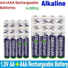 AAA+AA Alkaline Rechargeable Batteries 1.5V 3000mAh and 3800mAh Batteries lot