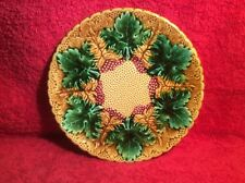 Beautiful Antique German Majolica Berries & Leaves Plate, gm870 GIFT QUALITY!!
