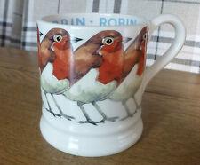 Emma Bridgewater British Birds Robin 1/2 Pinta Boccale NUOVO inutilizzato 1st Qualità