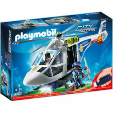 PLAYMOBIL Police Helicopter With LED Searchlight Pmb6921