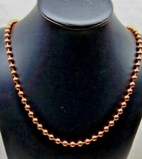 100% COPPER BALL CHAIN Necklace 6.3mm bead ~ #13 size Various Lengths w/ Clasp