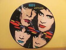 KISS - ASYLUM, PICTURE DISC VINYL LP DUTCH ARMY ORIGINAL PRESS # 1188