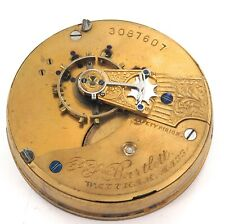 c1886 WALTHAM P S BARTLETT 18S 15J LEVER SET MENS POCKET WATCH MOVEMENT.