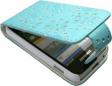 Glitter Faux Leather Case SAMSUNG S5830 /S5830i /S5839 /S5839i Galaxy Ace Blue