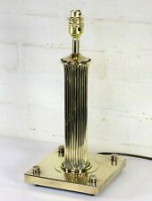 Table Lamp A Large & Unusual Vintage Brass Italian Moderinist Lamp Reeded Column