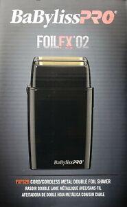 Babyliss Pro FOILFX02 Cordless Double Foil Shaver Black 110-220 Volts FXFS2B