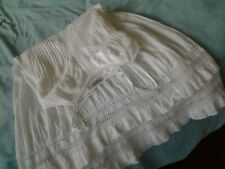 JUST JEANS Cotton Embroidery /Lace Strappy Long  Boho White Dress 10