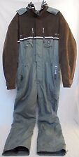 Bogner Goan Suede Thylmann Designer Men's One-Piece Ski Suit Size 42 Large USA