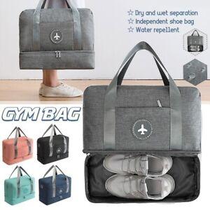 Portable Travel Waterproof Storage Case Dry Wet Duffle Weekender Overnight Bags