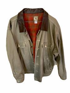 Marlboro Gear | Vintage Leather Collar Jean Jacket