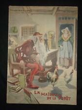 La maison de la fotêt - Contes de Grimm - 1909 - grand format Vaccari - F. Hy