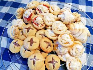 ❀ Selbstgebackene Gebäckmischung Kekse Plätzchen, 4 erlei Sorten 1 kg ✿