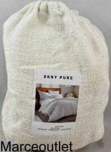 DKNY Donna Karan Pure Texture KING Duvet Cover White