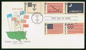 Mayfairstamps US FDC 1968 10 Flags Fluegel Combo first Day Cover wwo93999