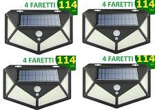 4pcs Lampada luce faretto faro esterno energia solare 114 LED sensore movimento