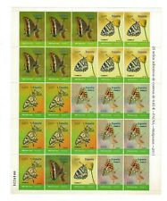 Pliego Fauna mariposas nº 4622/4625 2011 25 sellos adhesivos España spain stamps