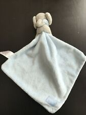 Marks And Spencer M&S Elephant Blue Baby Comforter Soft Toy