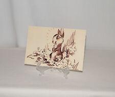 "New Disney World Mgm Studios Animation Gallery ""Bambi . 1942 . Thumper"" Postcard"