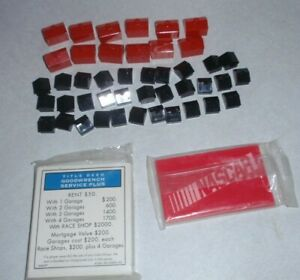 1997 NASCAR Edition Monopoly Hotels, Houses & Cards Replacement Pieces