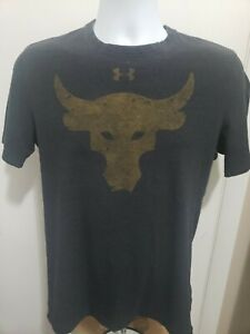 Under Armour Men's The Rock Project Loose Fit Short Sleeve T-Shirt Black • Small