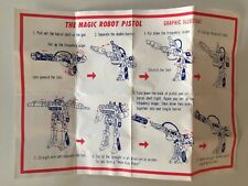Transformers ASTRA MAGNUM figure instruction sheet manual Magic Robot Pistol