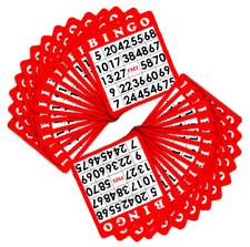 Royal Bingo Red Color 100 Cards  Set Vintage Games Slider Hobbie Lotto Craft