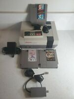 Nintendo NES Gray Console complete with cords mario/duck hunt tested retro READ