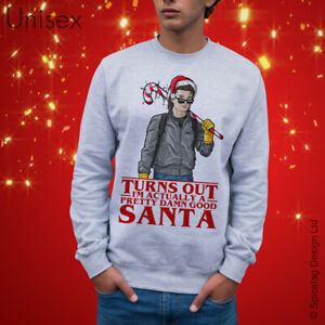 Steve Inspired 80's Christmas Sweatshirt Retro Xmas 1980's Top Retro Jumper Gift