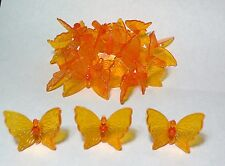 30 Beautiful Large Butterfly Ceramic Christmas Tree Bulb/Lights Ornaments~ Amber